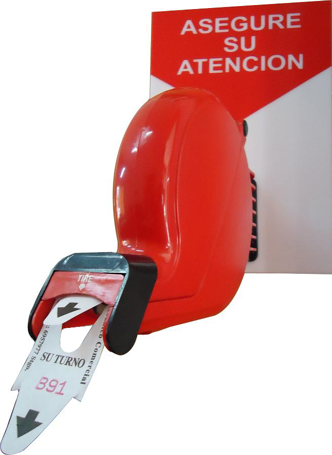 Dispensador de ticket atención de público